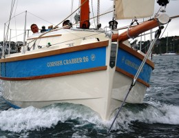 Crabber 26 bow on