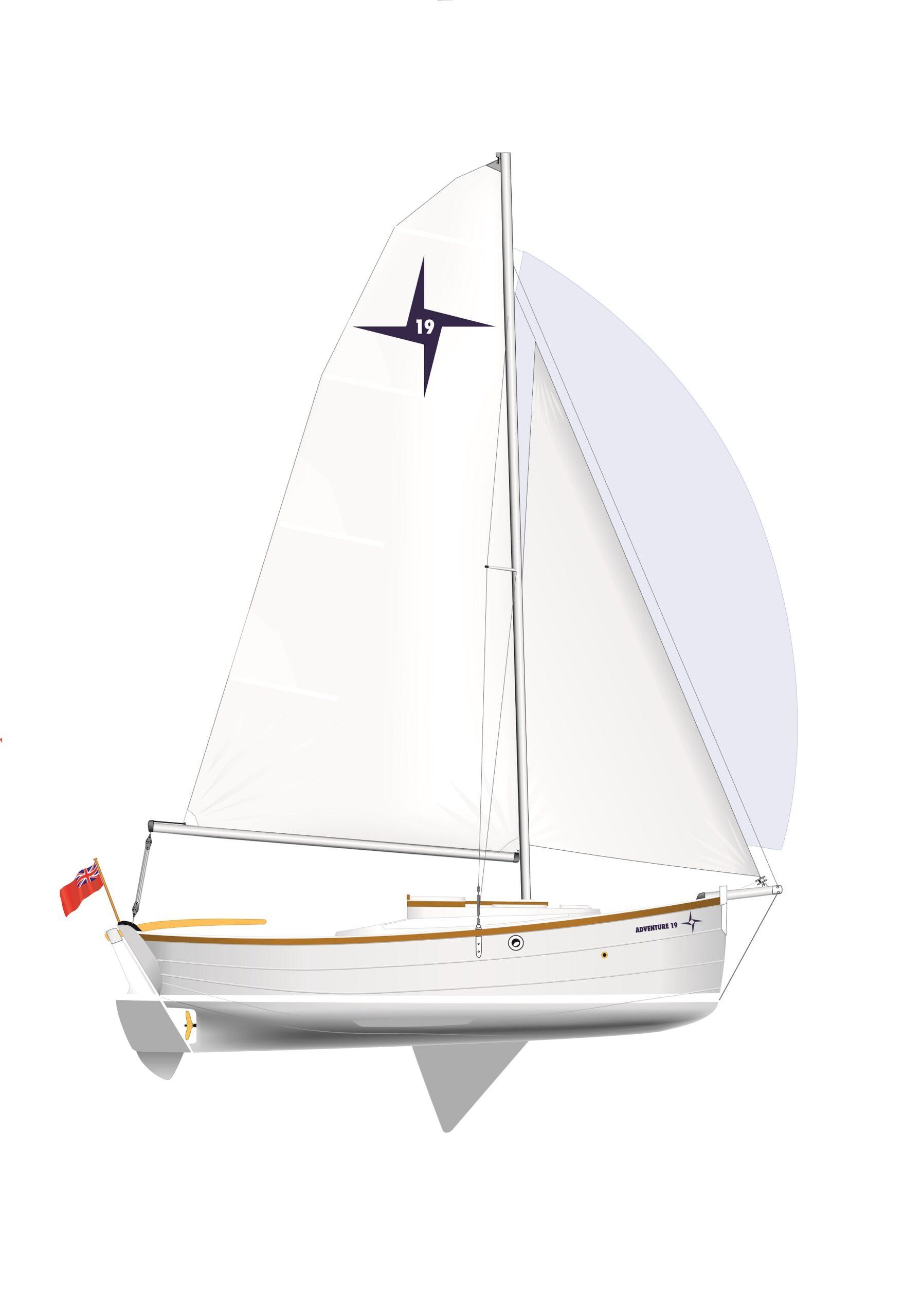 aventure19-plan de voile à l'échelle