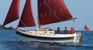 完全な帆の下でカニ漁師22