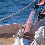 Crabber v22 sailing bowsprit close up
