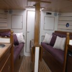 Pilot Cutter 30 galley to saloon view