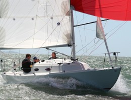 Mystery 30 with spinnaker up