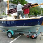 Shrimper 19 on trailer