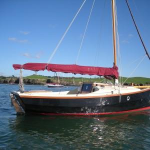 Shrimper 19 moored at Rock