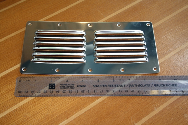 Louvered vent 9""