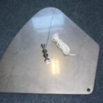 Shr ss rudder drop plate cw ss rudder bolt and uphaul string web picture used