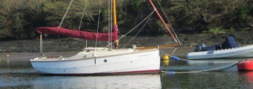 Shrimper 19 moored