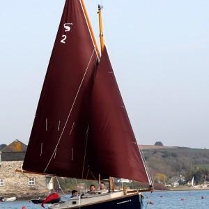 Shrimper 21 sailing in Rock
