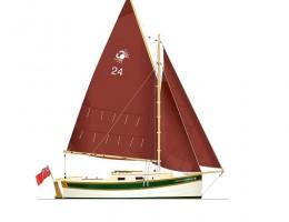 Sail plan Crabber 26